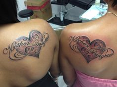 Me and my mom got matching tattoos! Never ending mother daughter love! (: