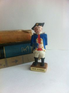 OUR LEADER Antique Wooden carved figurine soldier by BETOSVINTAGE, $15.00