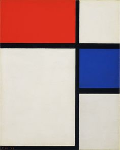 Piet Mondrian. Composition No. II, with Red and Blue. The  MoMA