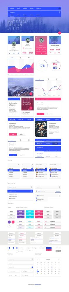 Superb free Material Design UI kit for web designers. Save your time while designing new Material Design project and use this free UI kit template. Site Web Design, Web Design Projects, App Design, Neon Design, Design Shop, Design Concepts, Design Ideas, Design Typography, Typographic Design
