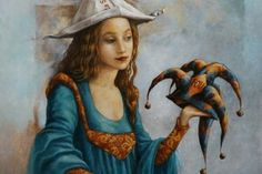 CATHERINE CHAULOUX - 1957, France. Extraordinary contemporary dreamlike painter, imaginary master, medieval influence, fantastic realistic technique.
