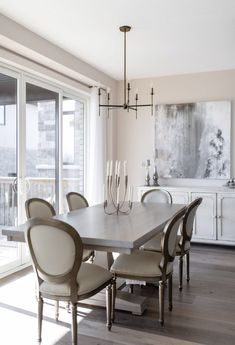 This beautiful Table was featured in the French Provincial dream home in London Ontario Canada Narrow Dining Tables, Farmhouse Dining Room Table, Dining Table With Bench, Dining Table Chairs, Live Edge Furniture, Dining Room Furniture, Furniture Design, Furniture Ideas, Luxury Dining Room