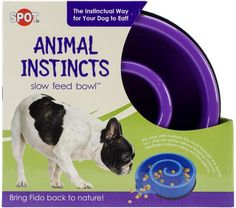 Ethical Pets Animal Instincts Slow-Feed Bowl - Blue