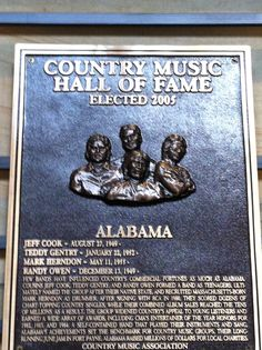 ALABAMA in the Country Music Hall of Fame