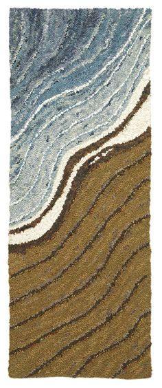 Shoreline... by Michelle Sirois-Silver <> (fabric, fiber, textile art, rug hooking)