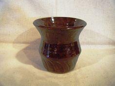 Brown Stoneware Vase by AllFiredUpCreations on Etsy