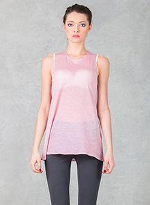 Różowa koszulka Athletic Tank Tops, Peplum, Spring, Collection, Women, Fashion, Moda, Women's, Fasion