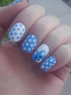 My nails for the first baby shower I've ever been invited to! - Imgur