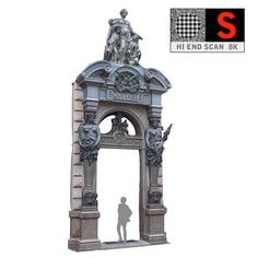 3d model vienna city gate 8k