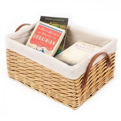 Features: Unclutter your home with Brick & Barrow's Lined Willow Storage Basket Style: Country/Cottage Product Type: Basket Colour: Cream Primary Mat Lined Wicker Baskets, Large Storage Baskets, Bamboo Basket, Plastic Baskets, Rattan Basket, Storage Boxes, Basket Shelves, Storage Ideas
