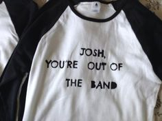 Baseball Josh You're out of the Band tee twenty by briannesdesigns: