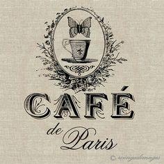 Cafe de Paris Image No47 Digital Download IronOn by WingedImages, 1.00