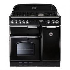 Falcon Classic 90, Range Cooker, Gaskochfeld, 90 Cm, Farbe Gloss Black,