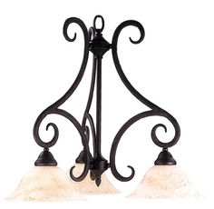 $376 Framburg FR 1288 Tuscan 3 Light Down Lighting Chandelier from the Terra Collection