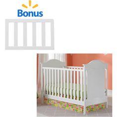 Fisher-Price Savannah Crib with BONUS Toddler Rail, Snow White