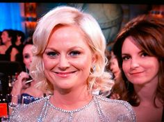 Best part of the Golden Globes - Tina Fey face-bombing Amy.