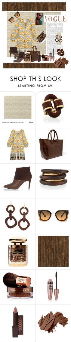 """""""Untitled #180"""" by riuk ❤ liked on Polyvore featuring Anna Sui, Victoria Beckham, Pierre Hardy, NEST Jewelry, Nest, Miu Miu, By Terry, Vita Liberata, Maybelline and Burt's Bees"""