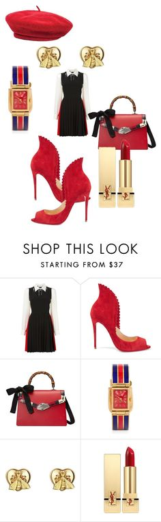 """""""The shirtdress"""" by leg2003366 ❤ liked on Polyvore featuring Sonia Rykiel, Christian Louboutin, Gucci, Yves Saint Laurent and Brixton"""