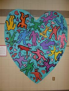 2nd grade collaborative Keith Haring Mural