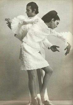 Benedetta Barzini in Valentino. Photo by Leombruno-Bodi. Queen, February 1968.