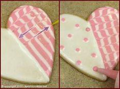 galletas decoradas con glase paso a paso san valentin - Google Search