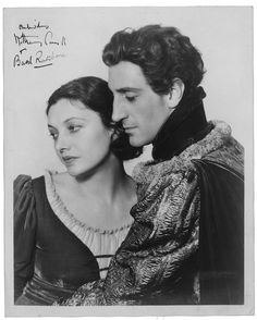 """Katharine Cornell and Basil Rathbone in """"Romeo and Juliet,"""" 1934 (Orson Welles played Tybalt)"""