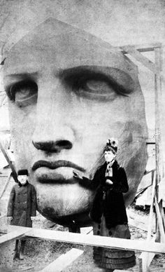 Picture From Historical Times Tumblr: Unpacking The Head Of The Statue Of Liberty, 1885