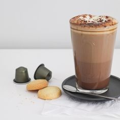 New blog post  before I left for #Paris I had the pleasure of recreating and styling this delicious dark hot chocolate for @nespresso - a perfect treat for any chilly autumn evening or morning. You can of course find the recipe on the blog today  #nespresso #coffee #madefromscratch