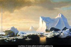Icebergs In The Arctic by William Bradford