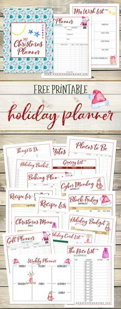 This printable Christmas planner has everything! It's the perfect way to get and stay organized during the busy holiday season.
