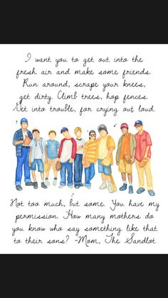 Sandlot quote by the mom. Sandlot Quotes, The Sandlot, Movie Quotes, Sandlot Benny, Baseball Party, Baseball Mom, Baseball Nursery, Softball Quotes, Sports Mom