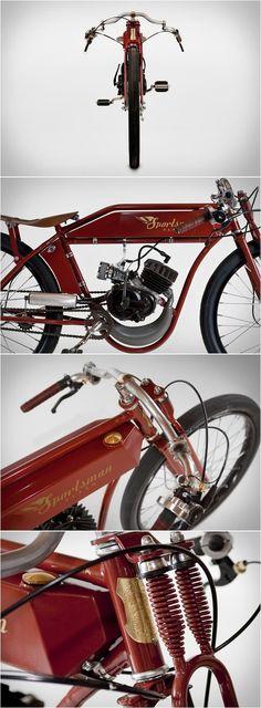 SPORTSMAN FLYER   MOTORIZED BICYCLES #custom #bobber #scrambler #caferacer #vintage