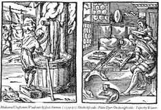 A plain dyer. Source: Woodcut by Jost Amman (1539-1591).