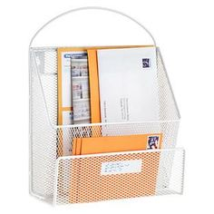 White Mesh Mail Sorter | The Container Store