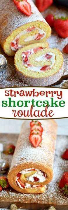 This Strawberry Shor This Strawberry Shortcake Roulade is the...  This Strawberry Shor This Strawberry Shortcake Roulade is the quintessential summer dessert. Cake rolls are always stunning but this one is particularly so. Light and airy cake wrapped around a sweet whipped cream and fresh strawberry filling - entirely irresistible! // Mom On Timeout Recipe : http://ift.tt/1hGiZgA And @ItsNutella  http://ift.tt/2v8iUYW