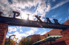 Pixar Studios!! really wanna go there.... >.