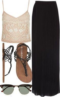Summer fashion LOLO Moda: Beautiful long skirts - fashion For Mode Outfits, Fashion Outfits, Womens Fashion, Skirt Outfits, Fashion Ideas, Fashion 2014, Ladies Fashion, Modest Fashion, Fashion Shoes