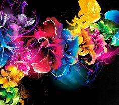Pintura multicoloridas