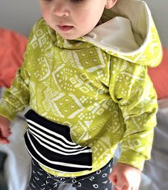Toddler/Baby Lime Tribal/Striped Sweatshirt 18 to 24 mo. by ModernIris on Etsy