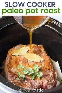 Paleo Pot Roast for the Crock Pot Slow Cooker oven or Instant Pot it's so easy to make and too! Paleo Pot Roast for the Crock Pot Slow Cooker oven or Instant Pot it's so easy to make and too! Easy Whole 30 Recipes, Best Gluten Free Recipes, Paleo Recipes Easy, Pot Roast Recipes, Gluten Free Recipes For Dinner, Slow Cooker Recipes, Real Food Recipes, Crockpot Recipes, Cookbook Recipes