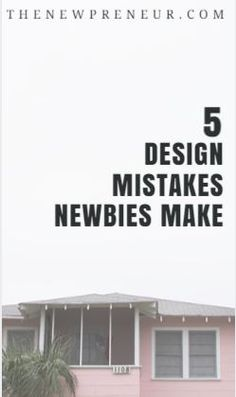 5 design mistakes newbies make - Web design is important. It can establish the vibe your visitors get when the visit your website. Here are 5 design mistakes newbies make.