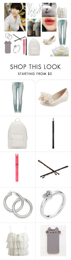 """""""Coffee Date With Yoongi"""" by yoonmin2725 ❤ liked on Polyvore featuring One Green Elephant, Melissa, PB 0110, Max Factor, Forever 21, Goody, MaBelle, Wet Seal and Pusheen"""