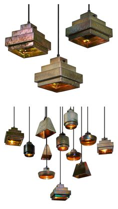 Lustre Light by Tom Dixon. Handmade ceramic lamps with an iridescent glaze containing minerals and precious metals.