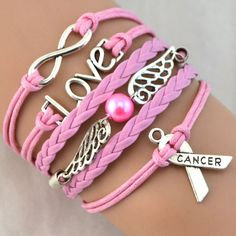 Breast Cancer Love Charm Pink