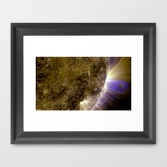 Solar Dynamics Observatory Flux Ropes on the Sun Art Print Photo Framed Art Print by Planet Prints - $33.00