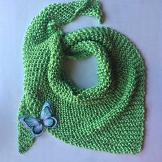 Spring scarf pattern (Green I want you green ! Baby Knitting Patterns, Baby Patterns, Spring Scarves, Knit Crochet, Handmade, Crafts, Accessories, Tan Solo, Shawls