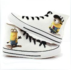 minion Converse shoes Despicable Me minion by ShoemycolorEtsyshop, $55.99