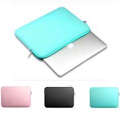 "2017 moda soft laptop sleeve case bag para apple mac macbook air pro retina 11 "", 12"", 13 "", 15 pulgadas bolsa de portátil de 14"" envío gratis"