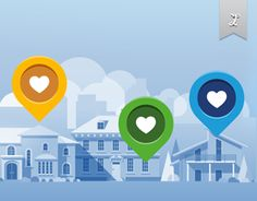 Illustration that show a range of properties available on Booking.com website.