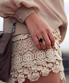 Love this lace skirt.. can see this with some pretty leggings and flats.